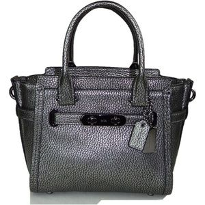 COACH MINI WAGGER 15 PEBBLE LEATHER SATCHEL